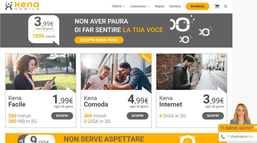 Guida su come ricaricare kena mobile for Sito mobili online